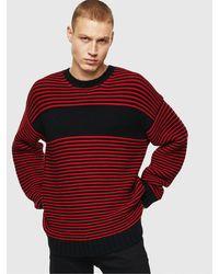 DIESEL K-ballis Striped Chunky Sweater - Red