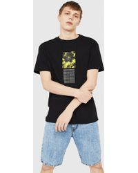 DIESEL - Graphic T-shirt In Combed Cotton - Lyst