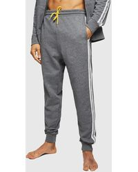DIESEL Umlb-peter Sweatpants With Knitted Logo Bands - Gray