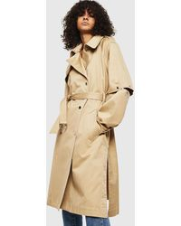 DIESEL G-acir-new Double-breasted Satin Trench Coat - Natural