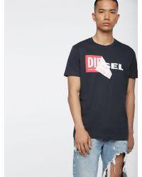 DIESEL - Cotton Double-logo T-shirt - Lyst