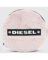 DIESEL Melara Small Round Pouch In Faux Fur - Pink