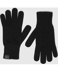 DIESEL K-tab-b Knitted Gloves With Logo Tabs - Black