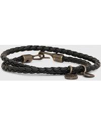 DIESEL Alucy Bracelet 2 Slim Double-wrap Bracelet - Black