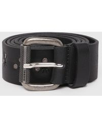 DIESEL - Leather Belt With Multiple Studs - Lyst