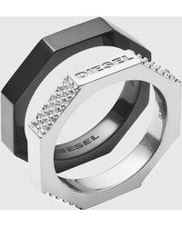 DIESEL - Two-tone Ring - Lyst