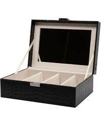 DIFF 4 Piece Vanity Case - Black Croc