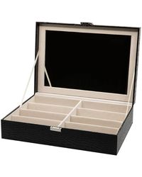 DIFF 8 Piece Vanity Case - Black Croc