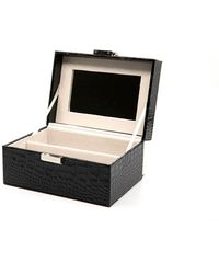 DIFF 2 Piece Vanity Case - Black Croc