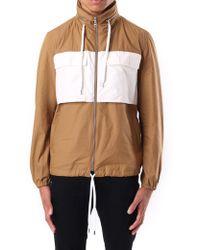 KENZO Men's Windbreaker Jacket Datk Camel - Multicolour
