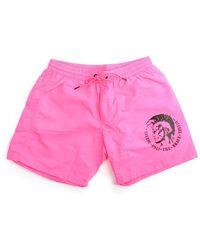 DIESEL - Bmbx-wave-e Men's Tie Waist Swim Shorts Bright Pink - Lyst