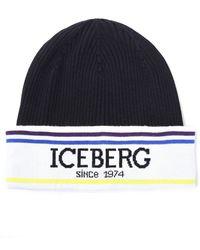 Iceberg Men's Since 1974 Beanie Black