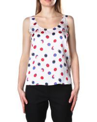 Armani Jeans - Spotted Sleeveless Top - Lyst