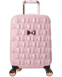 Ted Baker - Beaue Women's Moulded Bow 4 Wheel Trolley Pink - Lyst