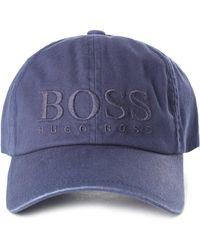 BOSS Orange - Men's Fritz Logo Baseball Cap Dark Blue - Lyst