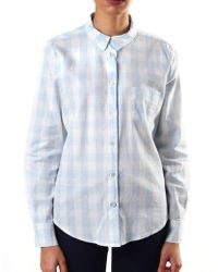 Armani Jeans - Check Long Sleeve Shirt Pink - Lyst