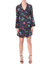 RIXO London - Eliza Women's Mini Wrap Dress Black - Lyst