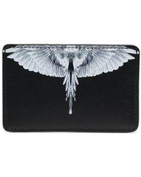 Marcelo Burlon Wings Leather Card Holder - Black