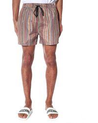 Paul Smith Men's Multistripe Swim Short Multi - Multicolour
