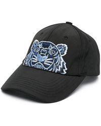 KENZO Canvas Kampus Tiger Cap - Black