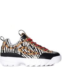 Fila Womens Disruptor Ii Animal Print Chunky Trainer - Multicolour