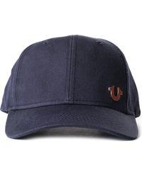 True Religion - Core Logo Men's Baseball Cap Navy/rose Gold - Lyst