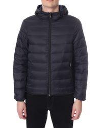 Emporio Armani Men's Zip Through Hooded Jacket Black