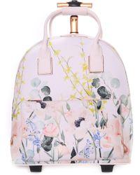 36aeb28dcf7c95 Ted Baker - Women s Elianna Elegant Travel Bag Nude Pink - Lyst