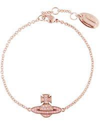 Vivienne Westwood - Women's Romina Pave Orb Bracelet Pink Gold - Lyst