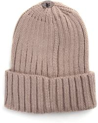 cc32562e9 Mylia Ribbed Hat - Brown