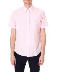 Polo Ralph Lauren - Men's Seersucker Short Sleeve Shirt Pink - Lyst