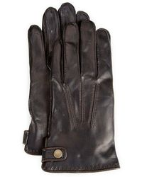 Fownes | Snap-tab Leather Gloves | Lyst