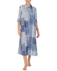 Donna Karan - Mixed Print Maxi Sleep Shirt - Lyst