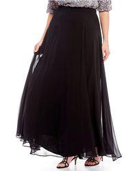 Alex Evenings - Plus Size Chiffon Long Circle Skirt - Lyst
