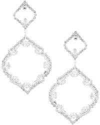 Cezanne - Open Oval Chandelier Statement Earrings - Lyst