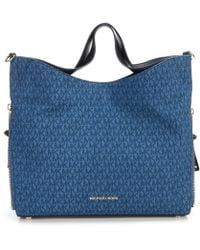 d26c69a038e6 MICHAEL Michael Kors - Devon Denim Larger Shoulder Tote - Lyst