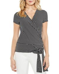 Vince Camuto - Stripe Tie Front Top - Lyst