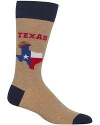 Hot Sox Texas Novelty Crew Socks - Multicolor