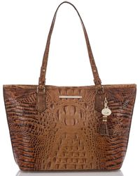 Brahmin - Toasted Almond Collection Medium Asher Tote - Lyst