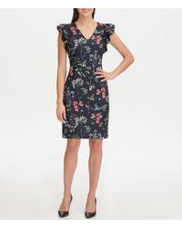 NWT TOMMY HILFIGER Size 14 Floral Lace Flatter Sleeve Sheath Dress