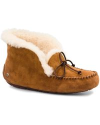 5a2184a63e8d UGG - Alena Bow Detail Waterproof Suede Slippers - Lyst