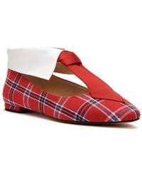 The Uni Plaid Tie Ballet Flats bXSdX