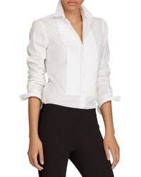 Polo Ralph Lauren - Cotton Broadcloth Tuxedo Shirt - Lyst