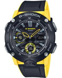 G-Shock Ana Digi Black And Yellow Shock Resistant Watch