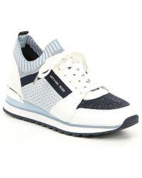 4992feef686a8 Lyst - MICHAEL Michael Kors Boerum Platform Sneaker in Natural