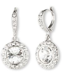 Givenchy - Crystal Round Drop Earrings - Lyst