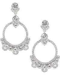 Givenchy - Crystal Orbital Drop Statement Earrings - Lyst