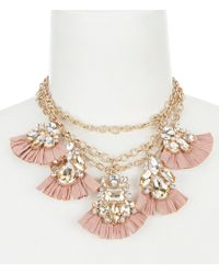Belle By Badgley Mischka | Fan Links Statement Necklace | Lyst