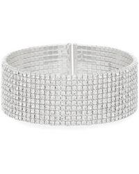 Anne Klein - Crystal Cuff Bracelet - Lyst