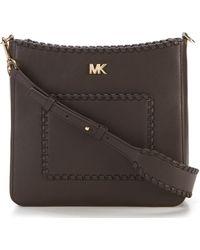MICHAEL Michael Kors - Gloria Pocket Whipstitch Cross-body Bag - Lyst